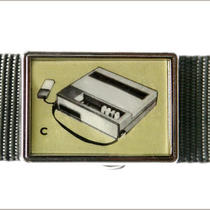 Retro Tape Recorder Buckle 2 Photo