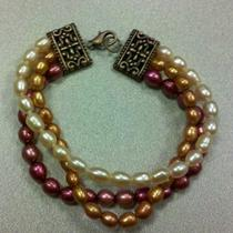 Ring of Fire Freshwater Pearl Bracelet Photo
