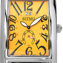 Ritmo Mvndo Mundo Vintage 521 Orange Swiss Movement Watch Brand New  Photo