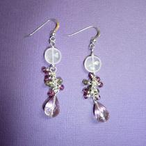 Rose Quartz and  Smokey Topaz Earrings Photo