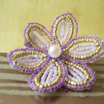Royal Treasure - French Beaded Flower Hair Clip Photo