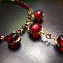 Ruby Blood Red Glass Gems Photo