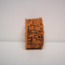 Ruckus - Orange Cloth Punk Cuff - Upcycled Photo