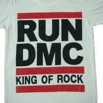 Run Dmc &quotking of rock&quot Fashion Rap Hiphop Shirt White Unisex Size M Photo