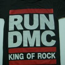 Run Dmc &quotking of rock&quot Fashion Rap Hiphop Shirt Women Size S Photo