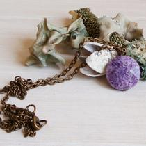 Russian Charoite Antiqued Necklace Photo