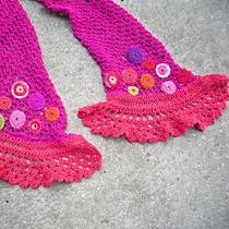 Sale Coco Knitted Scarflette With Crochet Circles Photo