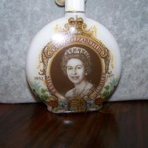 Sale Royal Wedding Vintage Queen Elizabeth Silver Jubilee 1952-1977 Perfume Bottle Statement Necklace Wow Photo