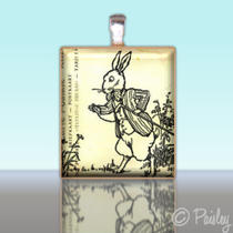 Scrabble Tile Pendant - Alice in Wonderland No. 13 - Charm Photo
