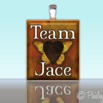 Scrabble Tile Pendant - Team Jace Mortal Instruments Inspired - Charm Photo