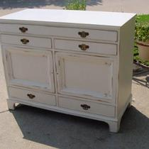 SERVER BUFFET 5 DRAWERS TWO DOORS LOTS OF STORAGE Photo