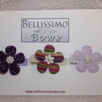 Set of 3 - Purple Flower Clips Photo