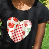 sheree&39s Atelier Custom valentine&39s Day Heart Appliqued Tee and 3-Tiered Twirl Skirt Set....custom Size 2-8 Photo