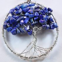 Silver Lapis Lazuli Tree of Life Photo