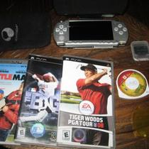 Silver Sony PSP 2001 WITH MANY EXTRAS! GREAT DEAL! Photo