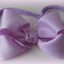 Simple Lavender Boutique Style Hair Bow Headband 3 6 12 18 2 3 4 5 6 7 8 9 10 Photo