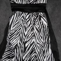 Size 7 Zebra Print Party Dress Photo