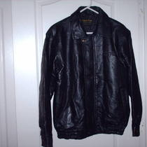 Solid Black Leather Jacket Photo