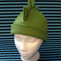 Solid Leaf Green Dino Mohawk Fleece Hat Photo