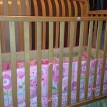 Solid wood crib Photo