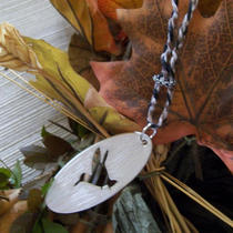 Sparrow on Braided Hemp Chain Photo