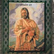 Spiritual Tapestry Throw &quot;The Lord Is My Shepherd&quot; Photo