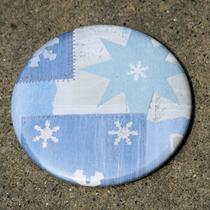 Stars and Snowflakes Pocket Mirror 2 1/4 Inch Photo