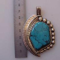Sterling Silver and Turquise Pendant Photo