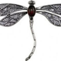 Sterling Silver Dragonfly Lapel Pin Photo