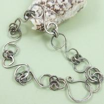 Sterling Silver Linked &quots&quot Bracelet Photo