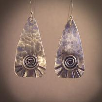 Sterling Silver &quotpaddle&quot Earrings Photo