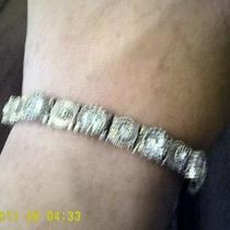 Stirling Silver with Diamond Braclet and earings Photo