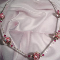 Strawberry Swirls - Necklace - Swarovski Crystal Photo