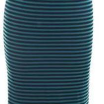 Striped Skirt With Belt in Teal Blue Photo