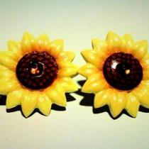 Sunflower Earrings Photo