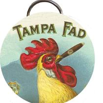 Tampa Fad Rooster Cigar Label 2 1/4 Inch Bottle Opener or Keychain or Pocket Mirror or Magnets or Pinback Buttons Photo