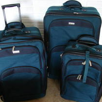 Teal Blue 3 Piece Forecast Luggage Set-Pompano Beach Photo