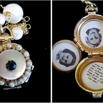 The Beautiful Bride - Vintage Coro 4 Picture Locket Photo
