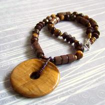 Tiger Eye Necklace and Earrings Photo