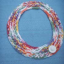 Tropical Cleo Knitted Necklace Photo