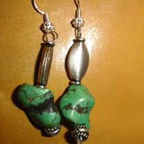 Turquoise and Sterling Silver Earrings Photo
