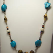 Turquoise and tigers&39 Eye Necklace Photo