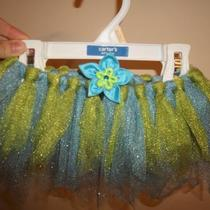 Tutu with flower clip Photo