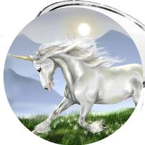 Unicorn Lovers 2 1/4 Inch Pocket Mirror or Bottle Opener or Keychain or Magnet Photo