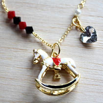 Unique Rocking Horse Necklace Photo