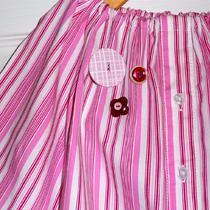 Upcycled and Recycled - Children Peasant Dress or Top - Will Fit a Size 12-24 Month 2t 3t and 4t - by Boutique Mia - Ready to Ship Photo