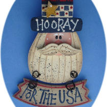 Usa Hooray Pin Teacher Gift Hand Painted Wood Photo