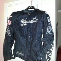 Used Joe Rocket Yamaha Mesh Motorcycle Jacket Women Black Medium Photo