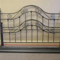 Used King Size Headboard and Footboard with Heavy Duty Steel Frame - $125 Photo