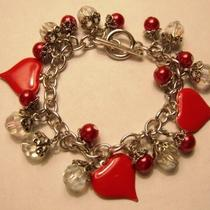 Venus Crystals and Hearts Valentine Charm Bracelet Photo